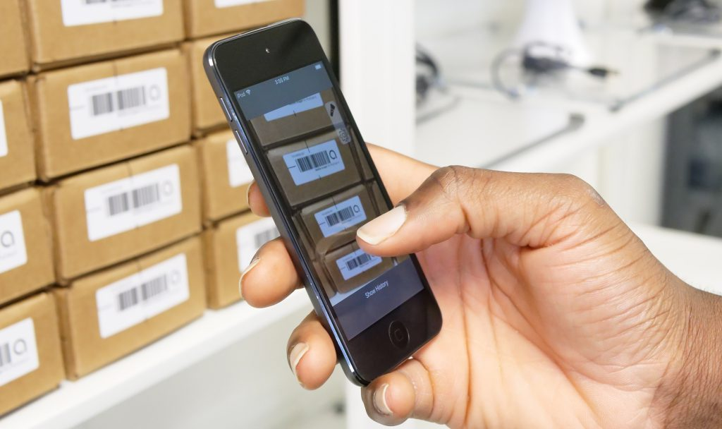 Ailas SoftScan on iPod touch 7 for inventory scanning