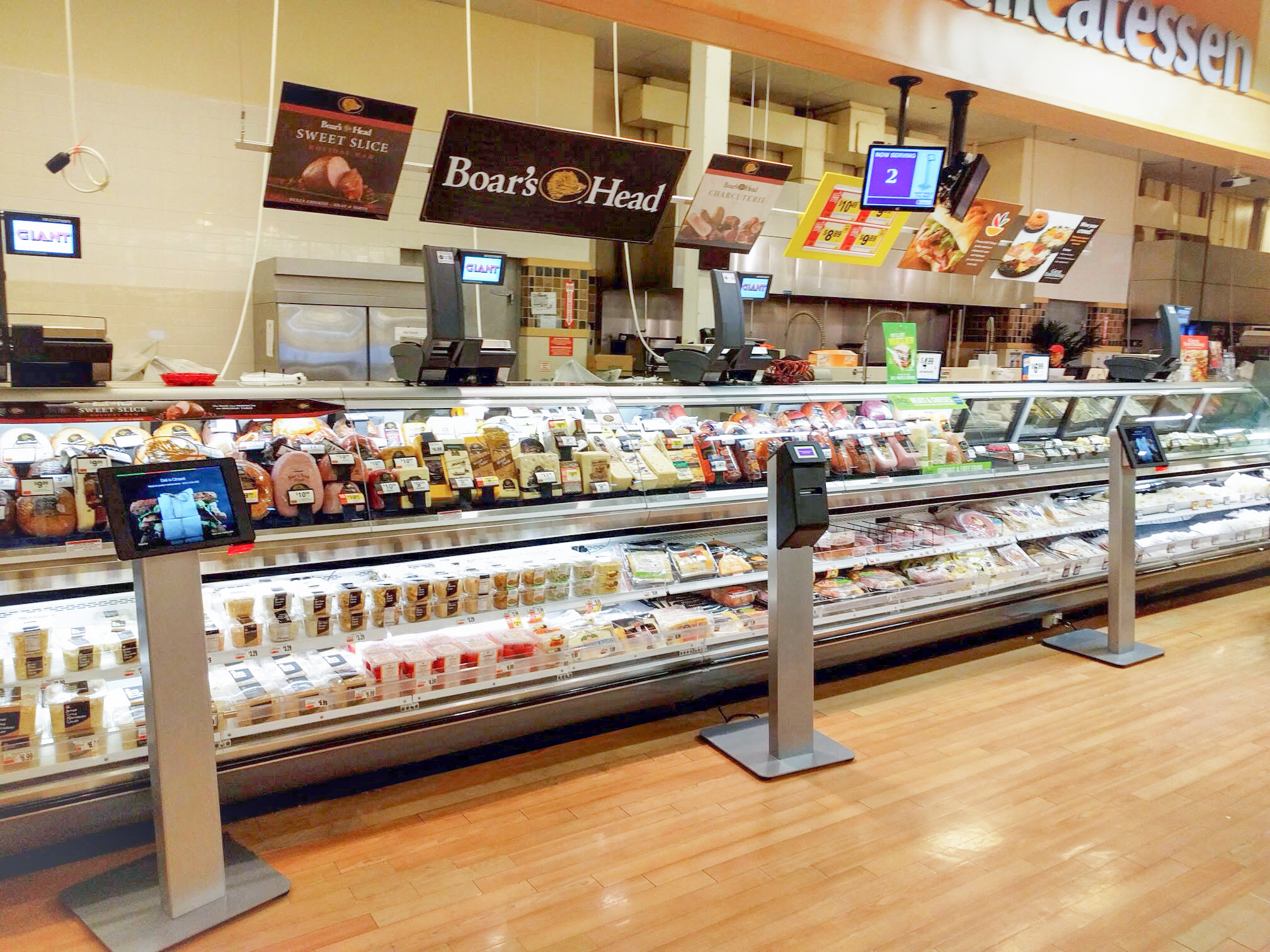 deli kiosks stop and shop ahold aila interactive kiosk