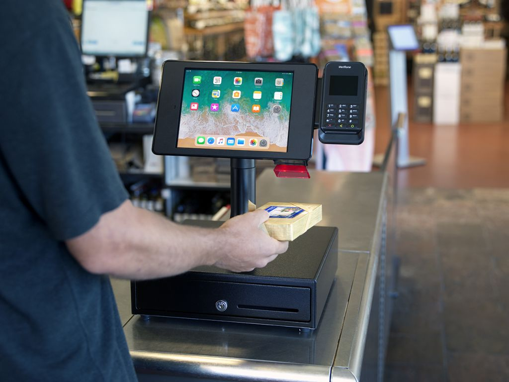 Interactive Kiosk iPad payments grocery