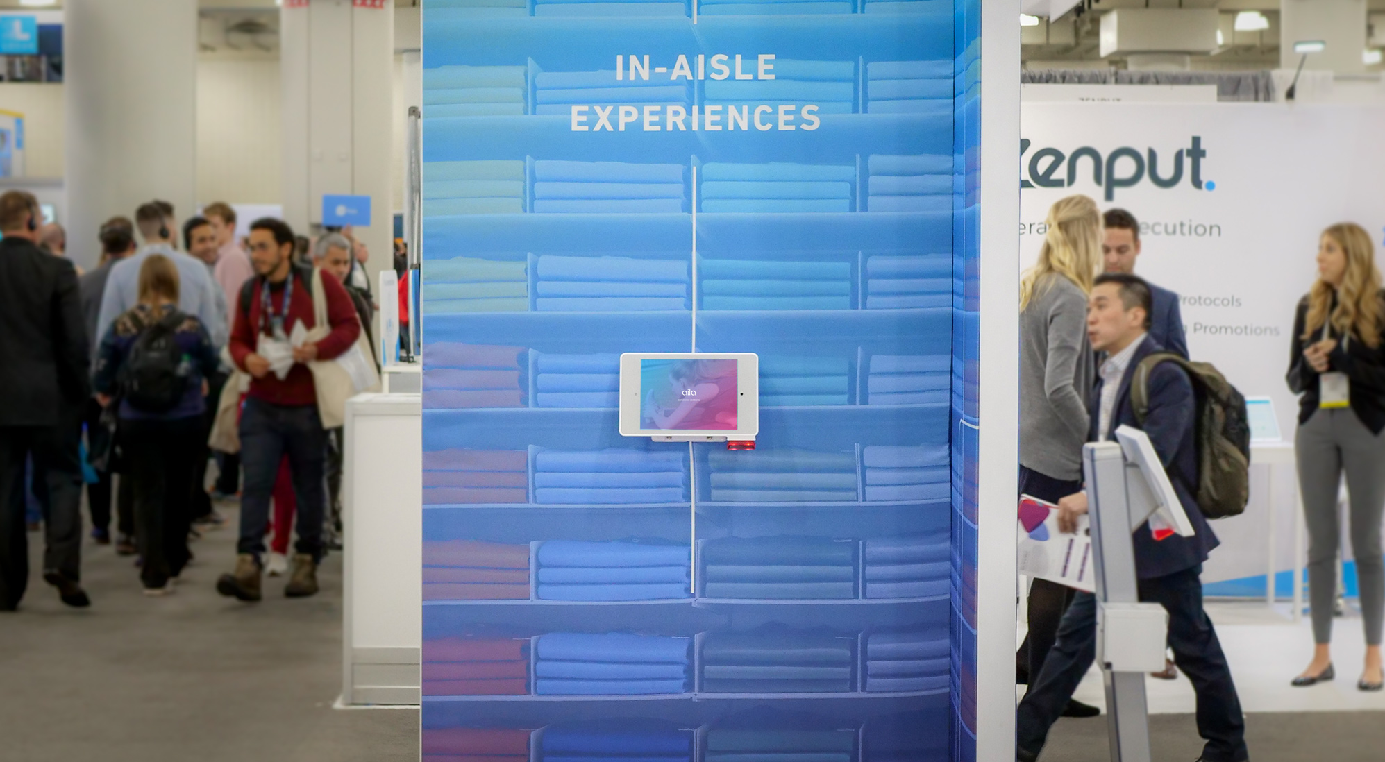 """Aila's Interactive Kiosk for 10.2"""" iPad in-aisle experiences at NRF 2020"""