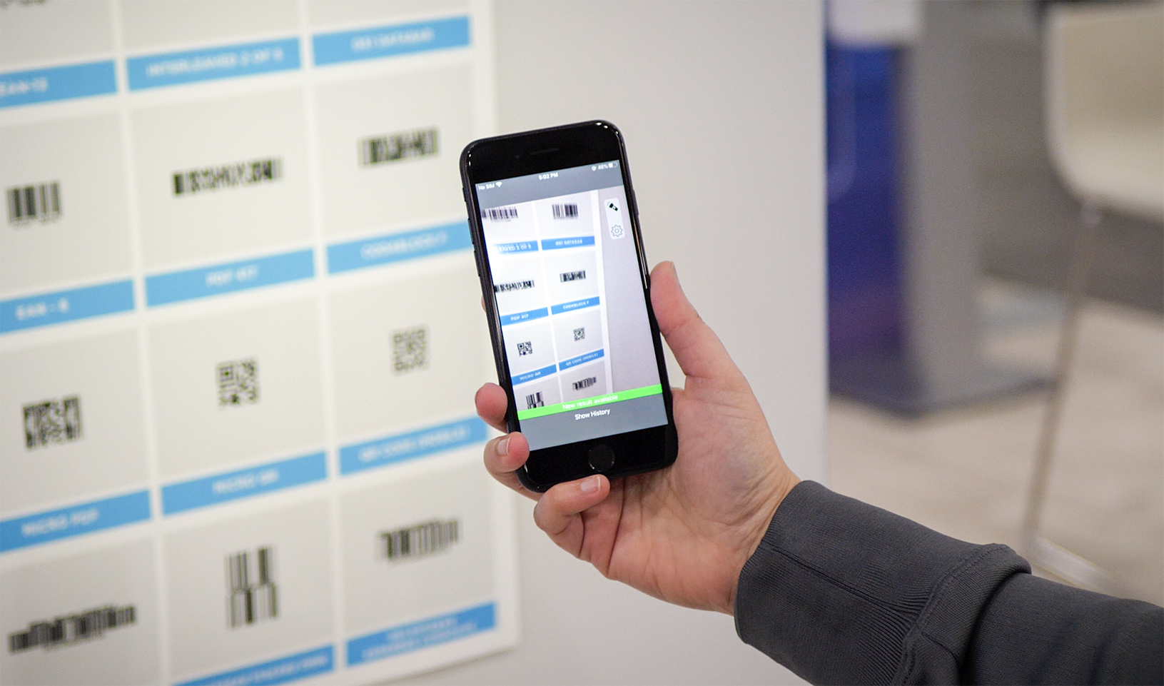 Aila's SoftScan for any iOS device scans over 45 barcode types
